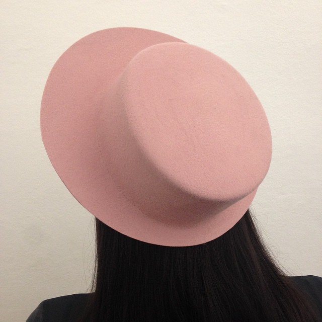 New shape ... #aw15 ... #ACANTO ... #francescoballestrazzi #millinery #hatspiration #fashion #style #stylish #love #me #cute #photooftheday  #beauty #beautiful #instagood #design #ancientpink