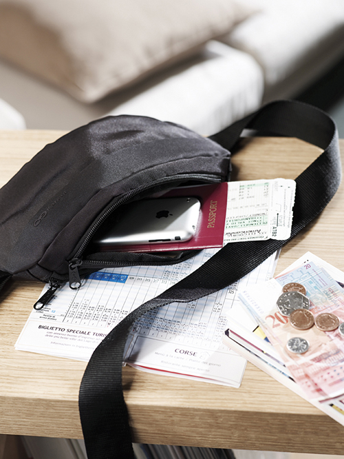 moneybelt with passport