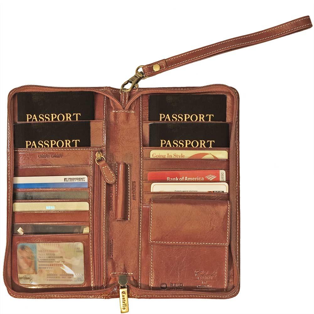 Family Zip Around Passport Case