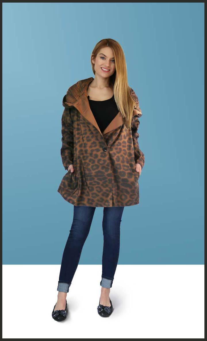 Mycra Pac Mini Leopard Raincoat