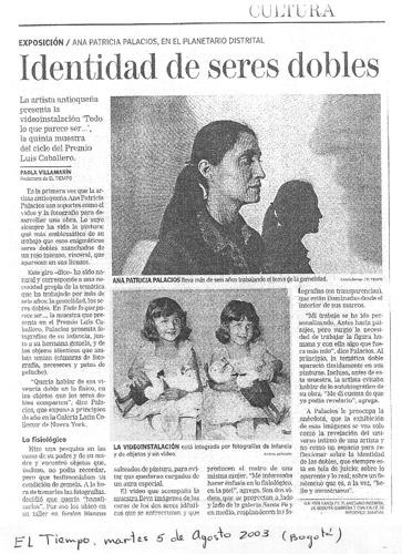 El Tiempo , Paola Villa Marin