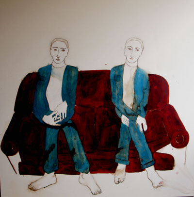 The sofa, 2006, 63x63 in, mixed media on canvas.JPG