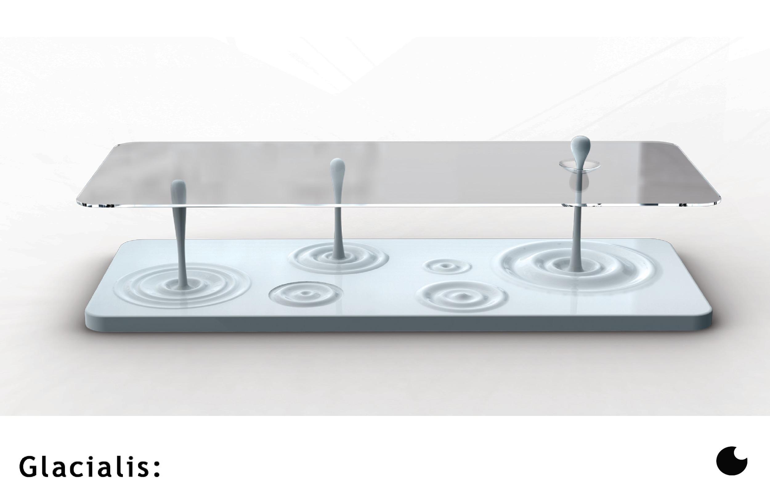 Glacialis Coffee Table by Sebastian Campos MOller