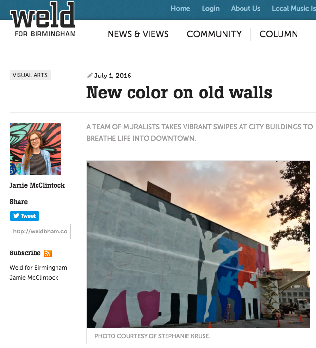 Weld for Birmingham - New color on old walls