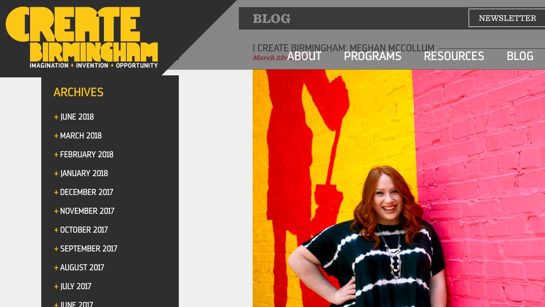 CREATE BIRMINGHAM - I Create Birmingham: Meghan McCollum