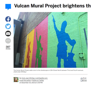 AL.COM - Vulcan Mural Project brightens the city center
