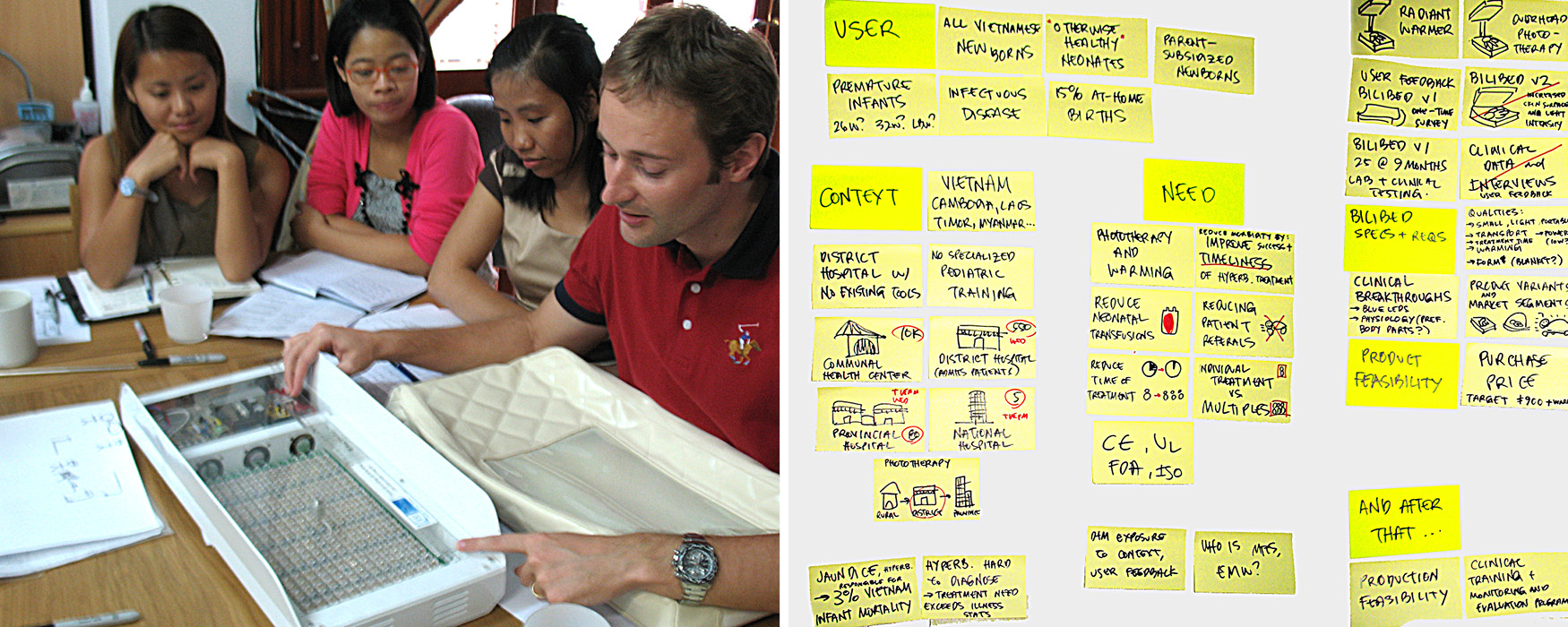The staff at manufacturing partner MTTS talk Design that Matters through their Bilibed phototherapy design to help us understand the need, user, and context at the Firefly kick-off in Vietnam.