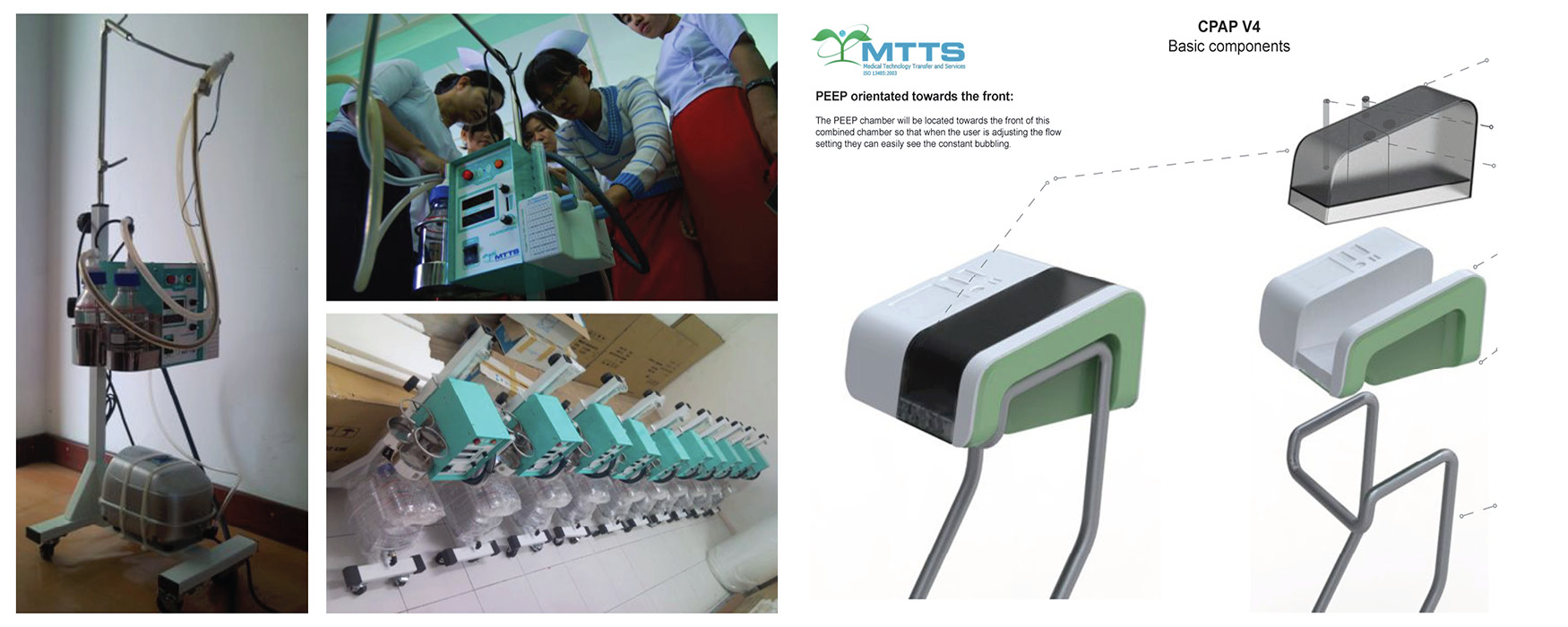 Left: The MTTS CPAP before. Right: The new MTTS CPAP in-development. Images courtesy MTTS.
