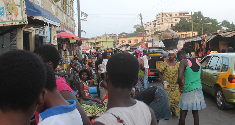 The busy streets of Accra on the way to deliver Firefly to the first hospital in Ghana. Photo courtesy Thrive Networks.