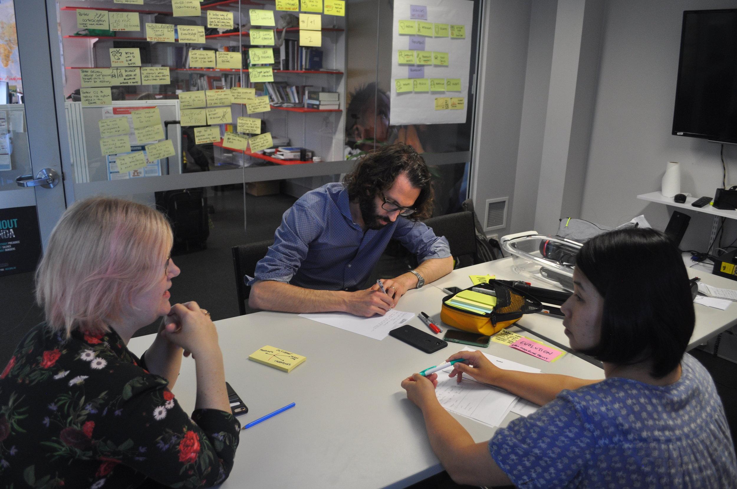 Expert Interviews at MSF Sydney office