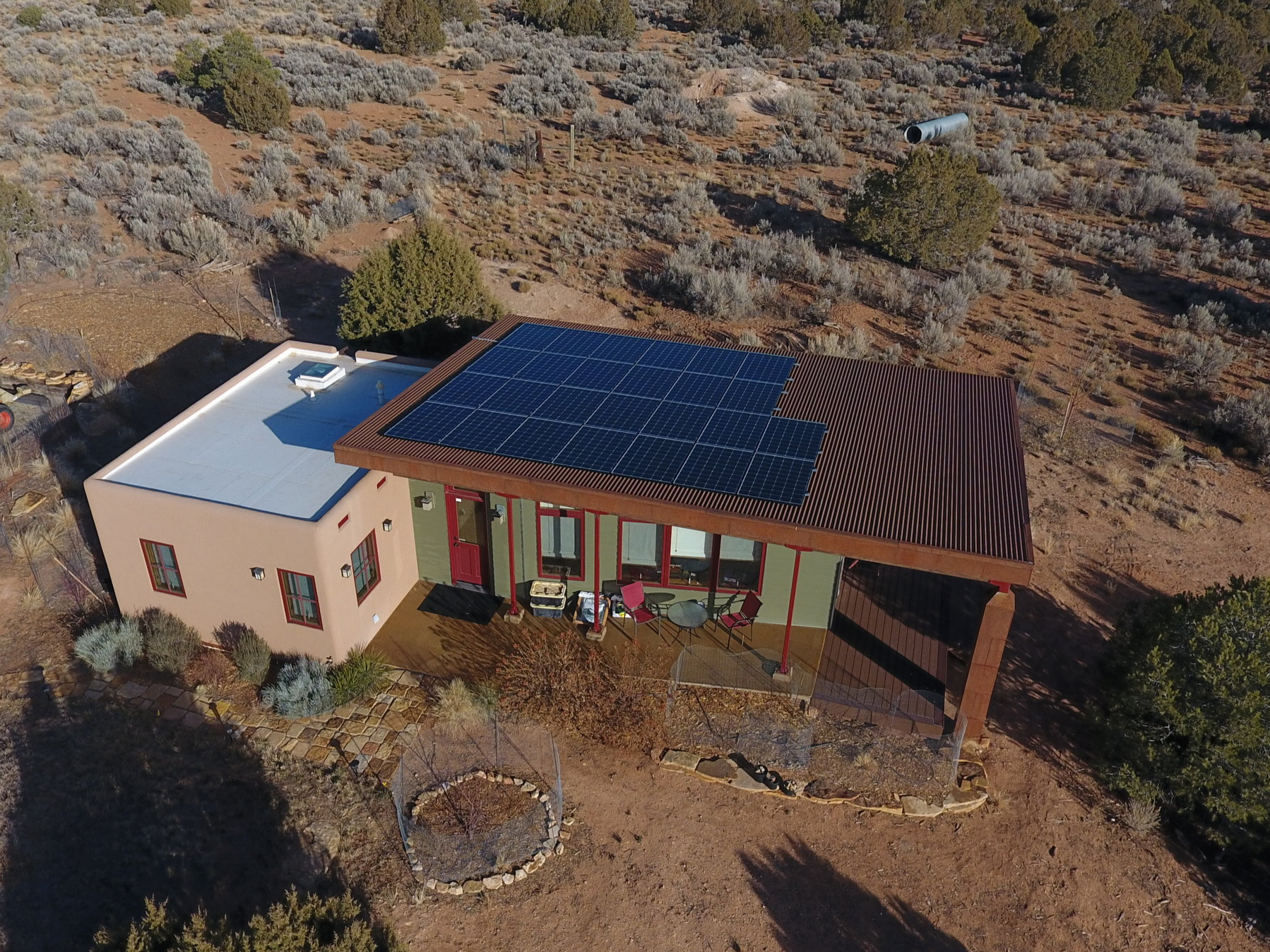 Residential solar system in Cortez Colorado