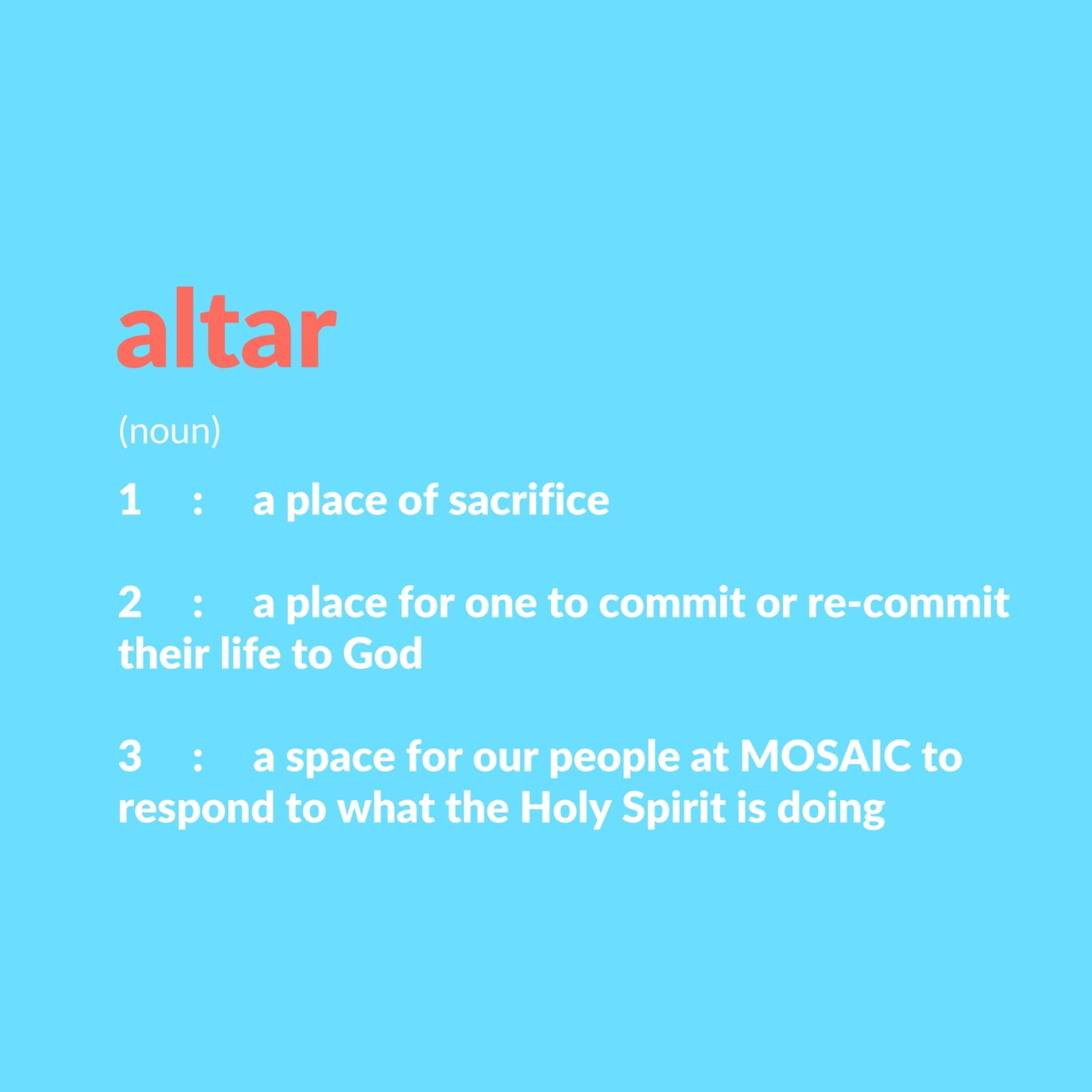 Altar, A Ministry of Prayer