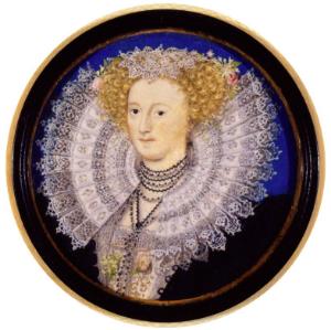 Mary Sidney Herbert, miniature portrait by Nicholas Hilliard, ca 1590, in the National Portrait Gallery, London