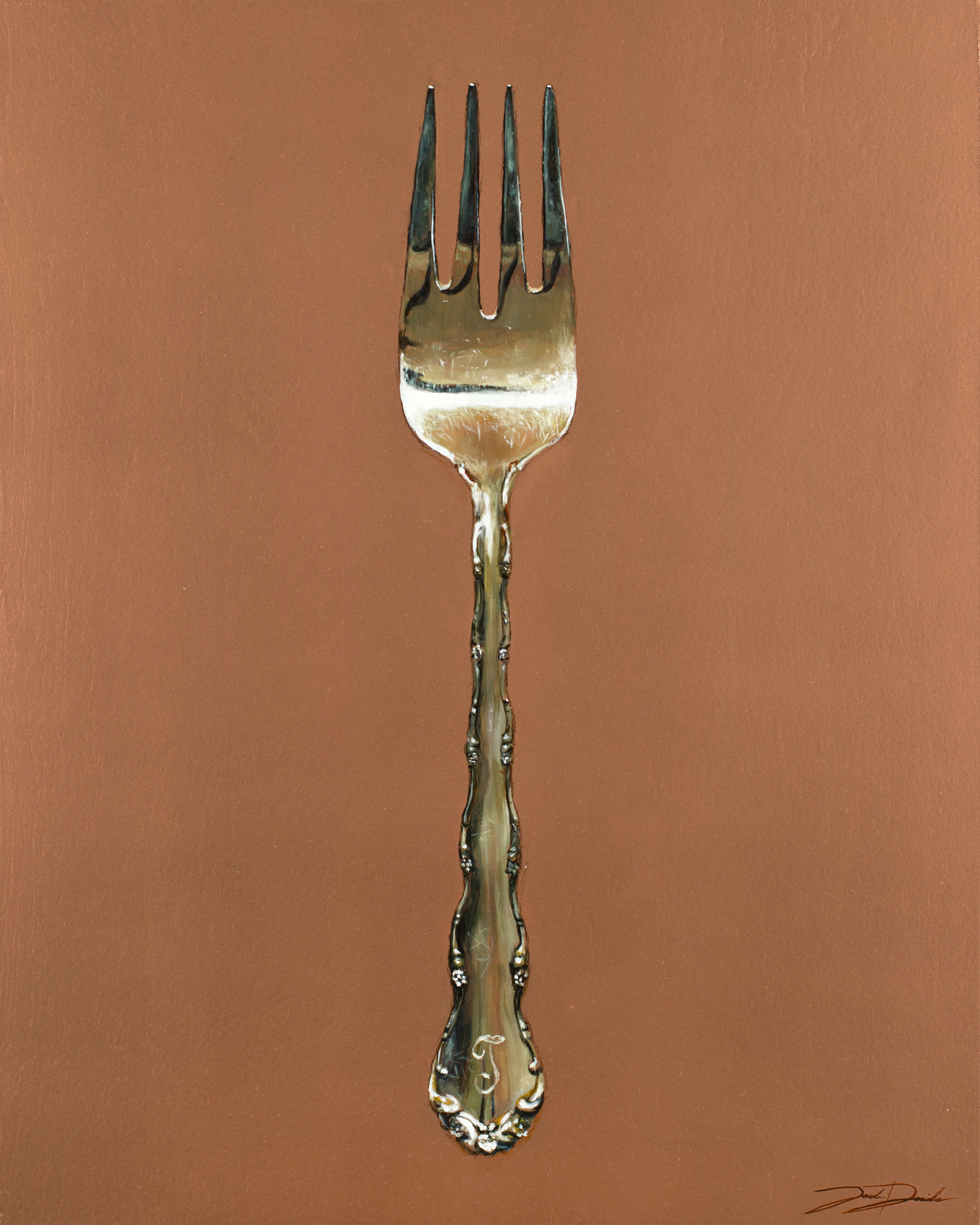 """Heirloom Fork"" 16""x20"" oil on panel"