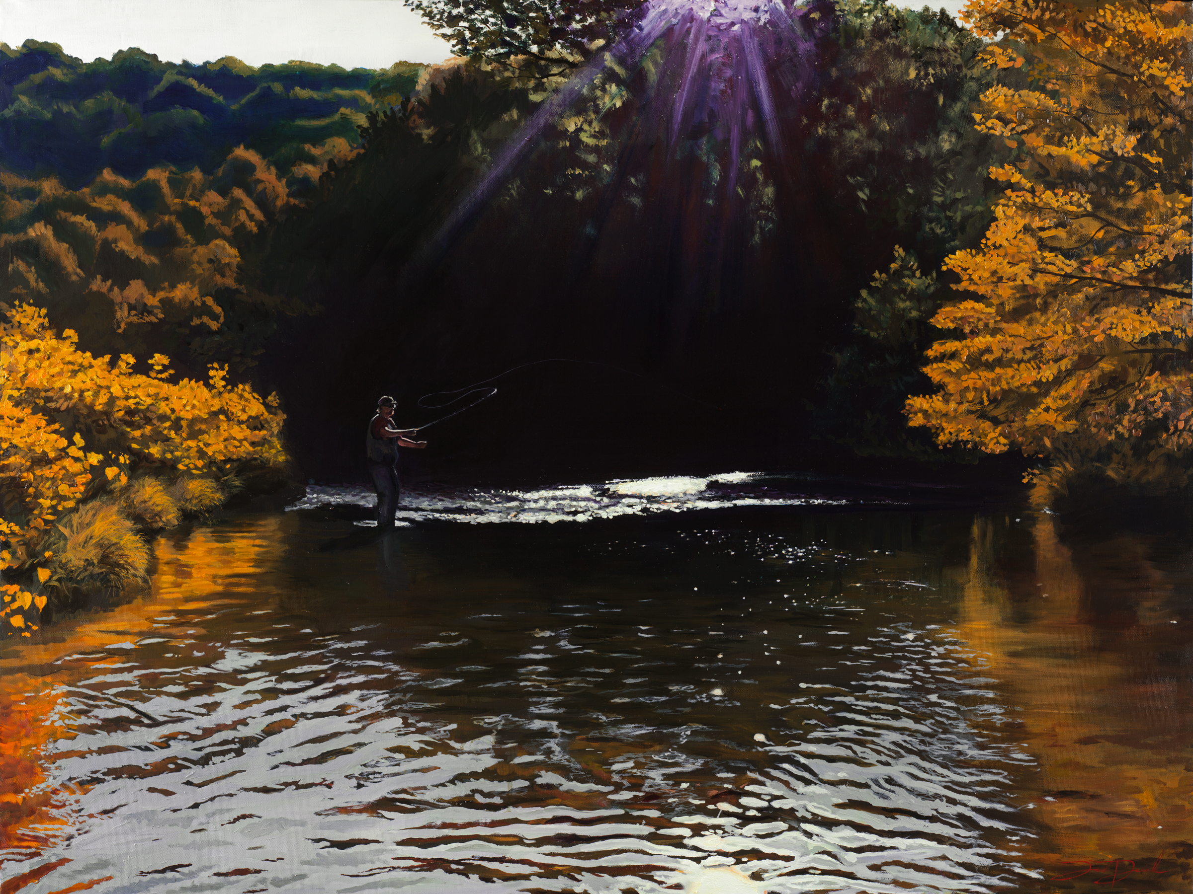 """On the Watauga""  30""x40"" oil on canvas SOLD"