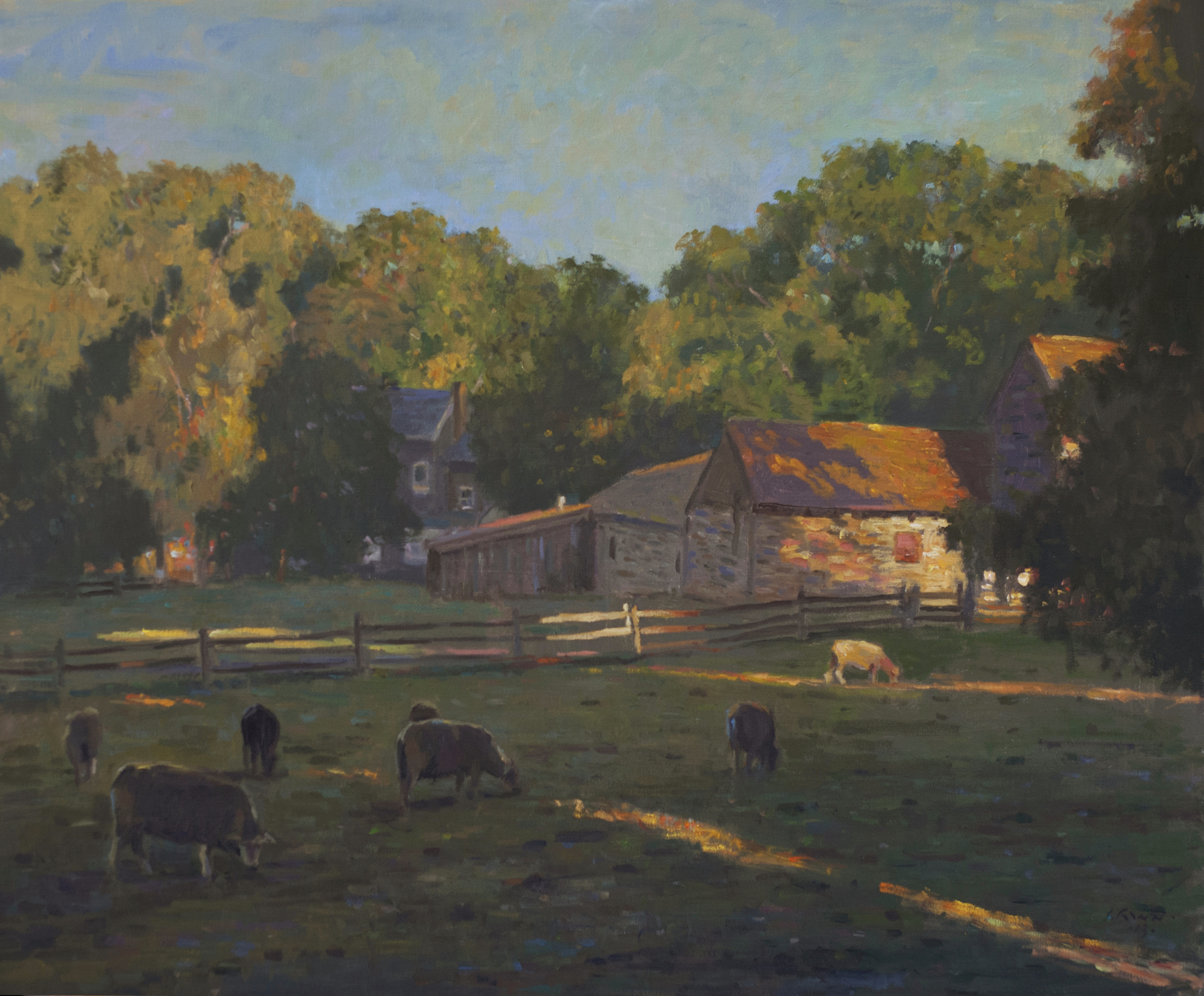 Farm End of Day, Oil on linen, 24x30 inches.