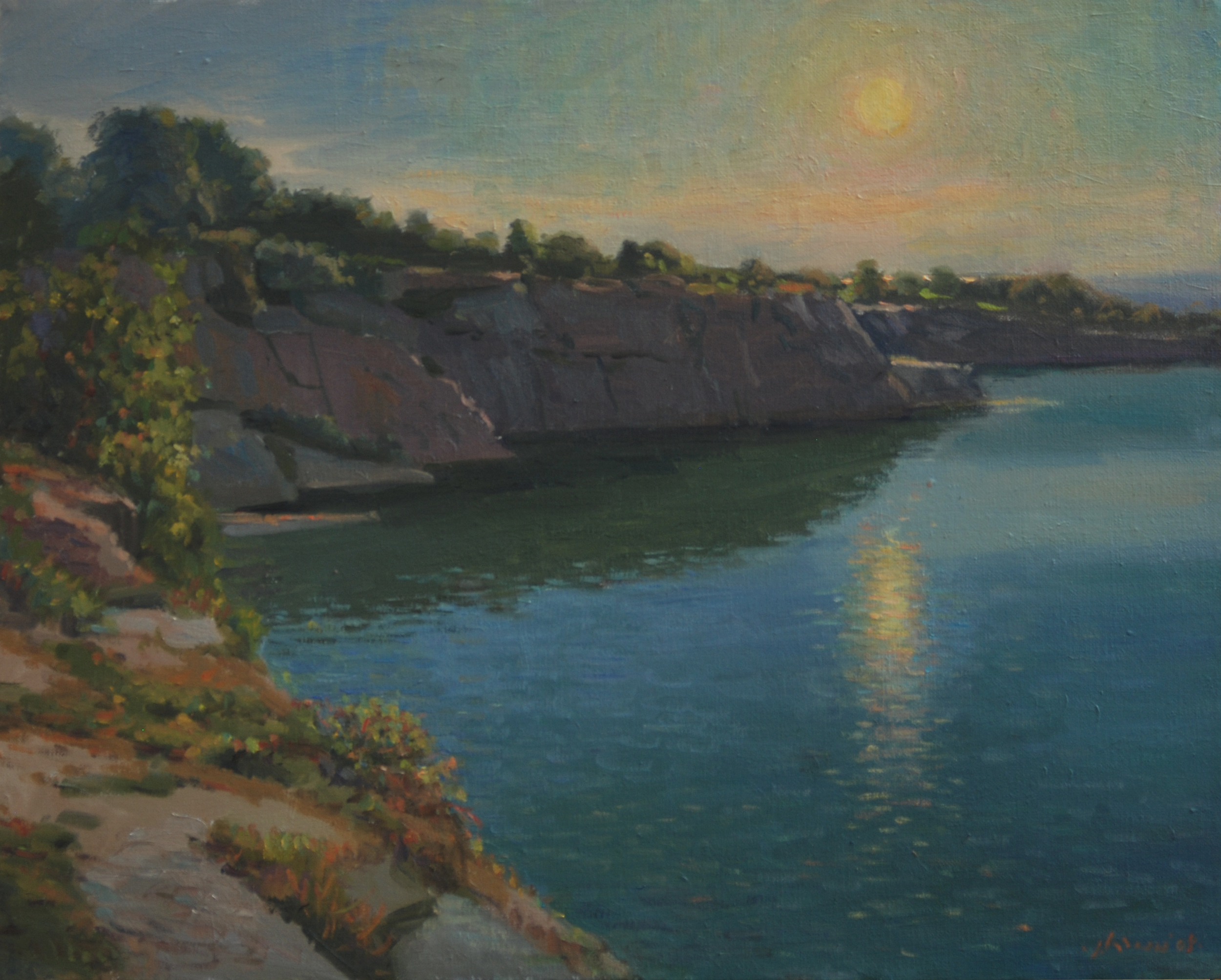 Halibut Point, oil on linen, 16x20 inches.