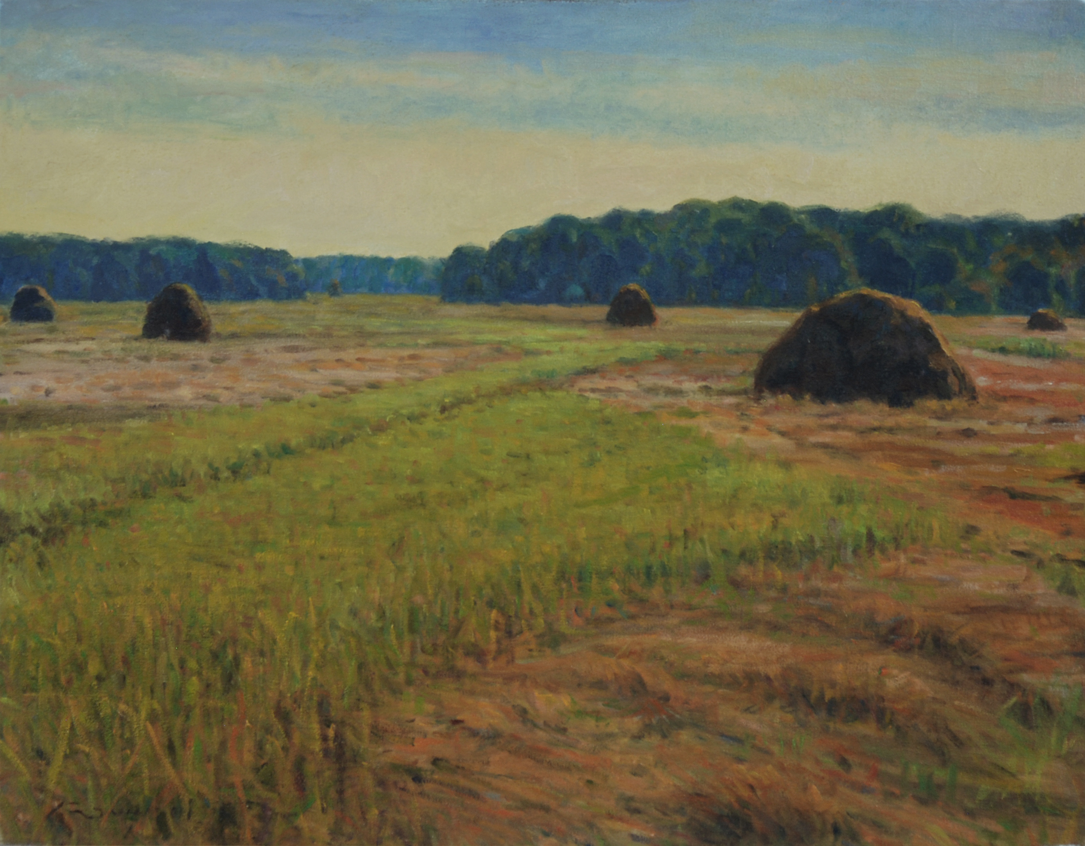 Summer Marsh, Oil on canvas, 22x28 inches.