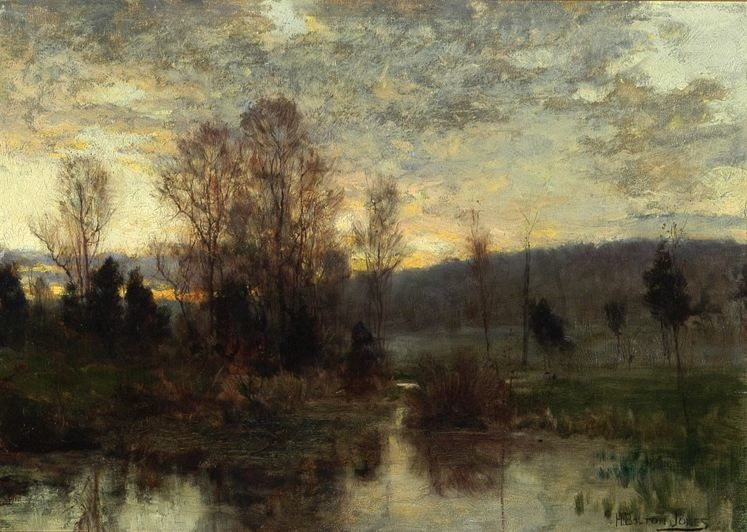 SHARE  FAVORITE   HUGH BOLTON JONES   Twilight, c1885, 11x15inches.