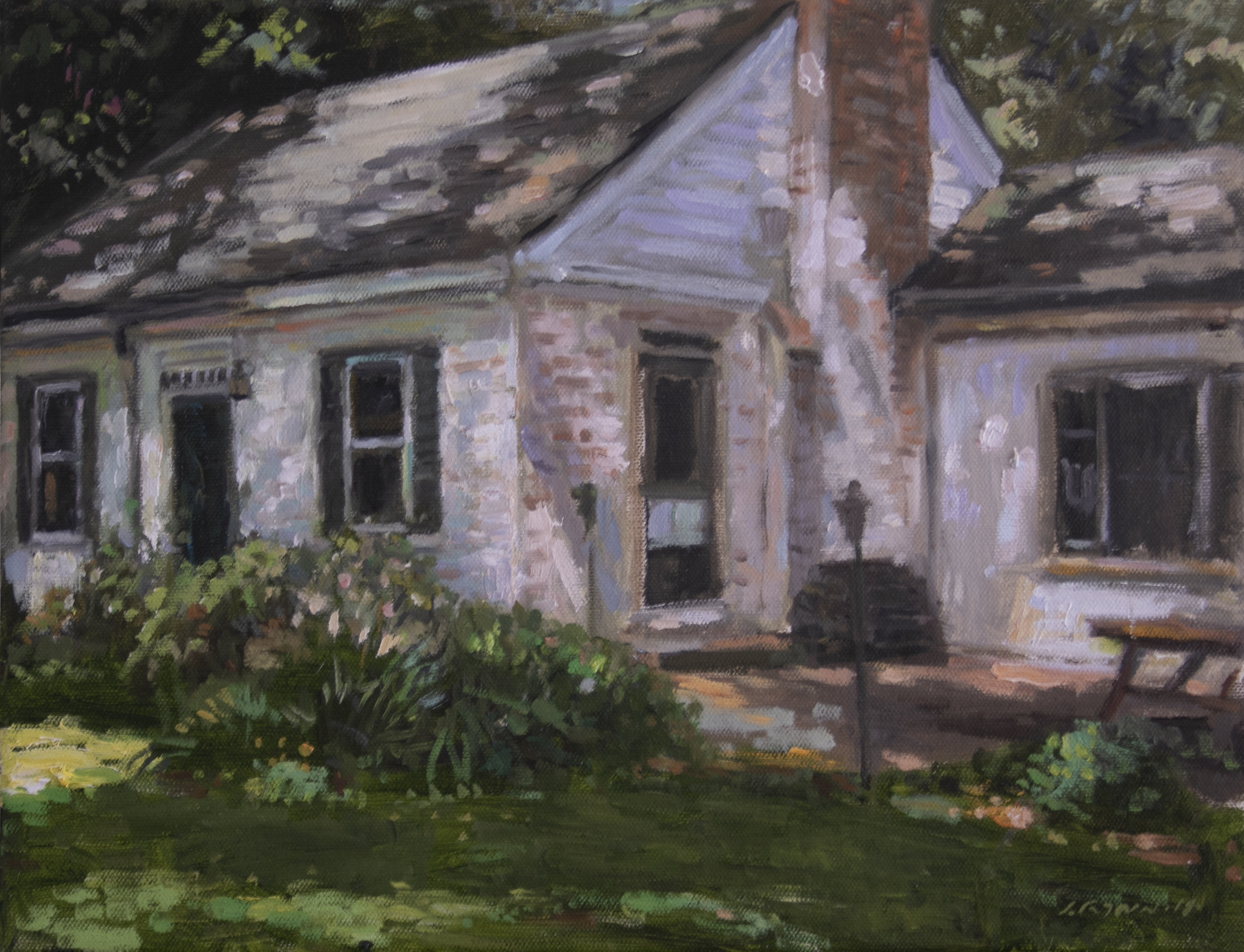 Cape house , Oil canvas , 14 x 11 inches.