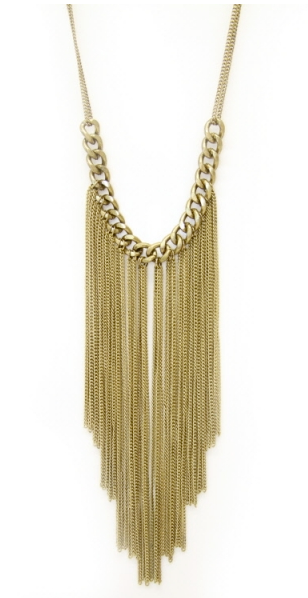 Antiqued Gold Fringe Necklace now available on Myths of Creation