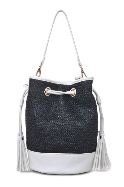 Tassels, wicker and vegan leather make our Wicker Park bag the perfect accent, $75.