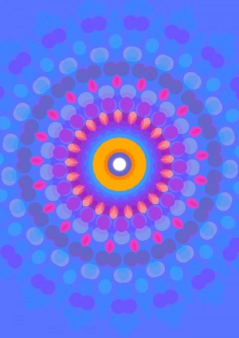 Passion Mandala,  digital art 2013  by Hank Hivnor