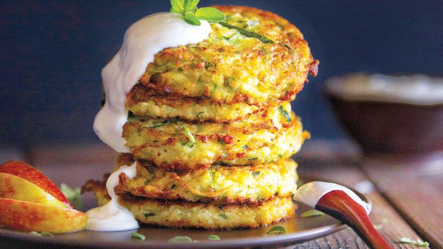 My zucchini pancakes are an easy and delicious way to eat more vegetables and also keep the carb count down.