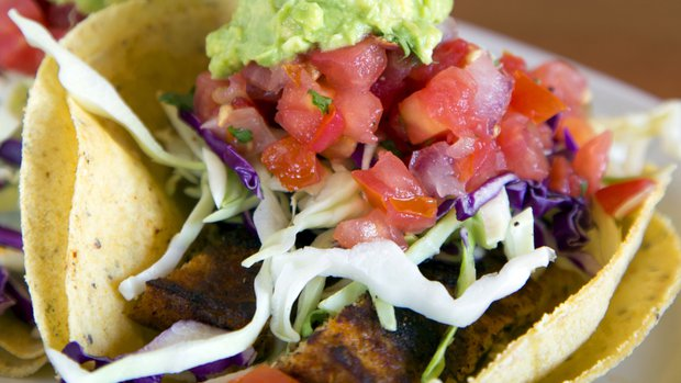 Native Foods' Baja Surf Tacos with tempeh