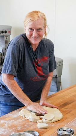 Cardamom's Joanne Sherif making angel biscuits. Photo by Eduardo Contreras