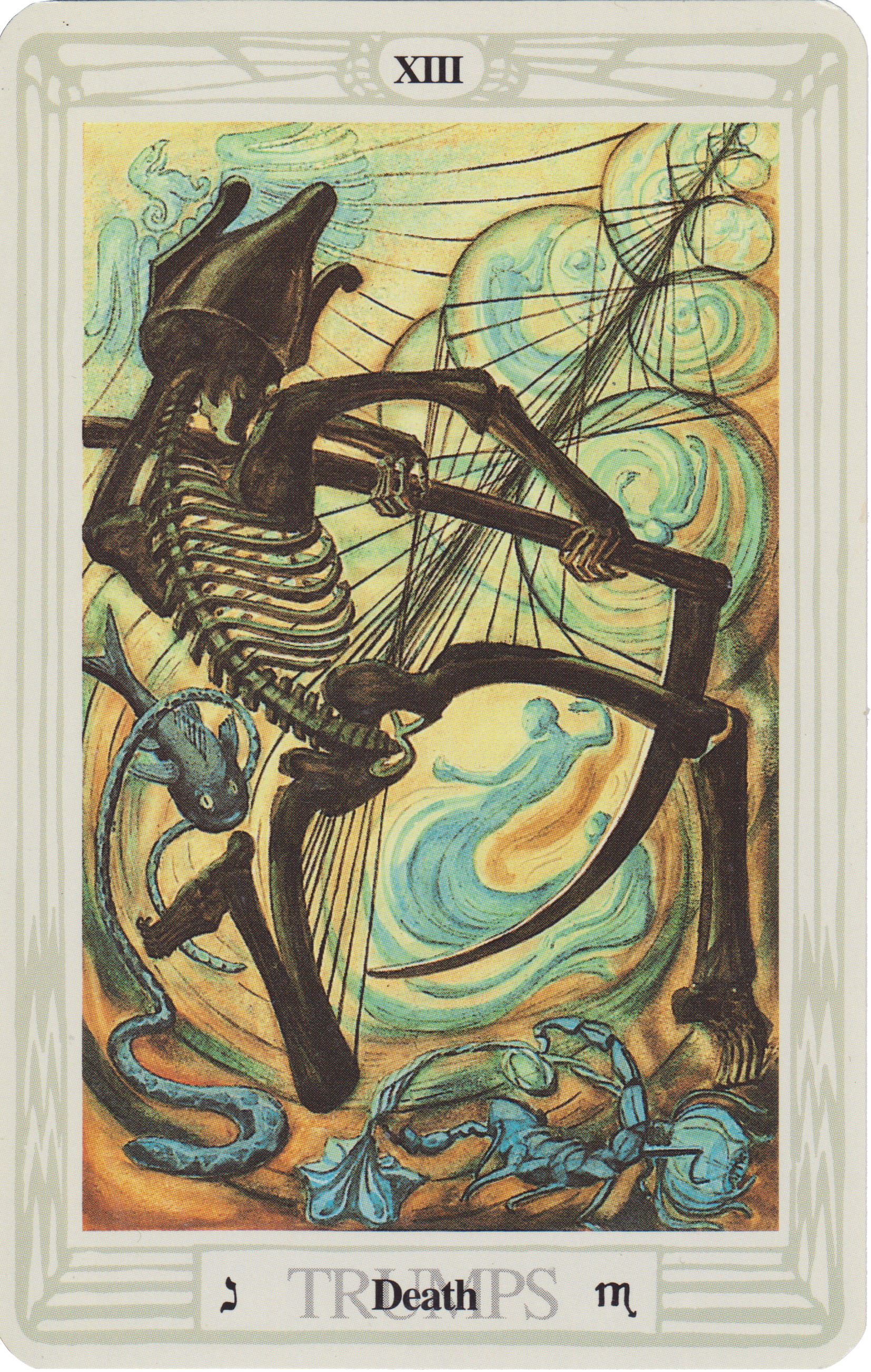 Death Card from the Thoth Tarot Deck. You can purchase this deck  HERE .