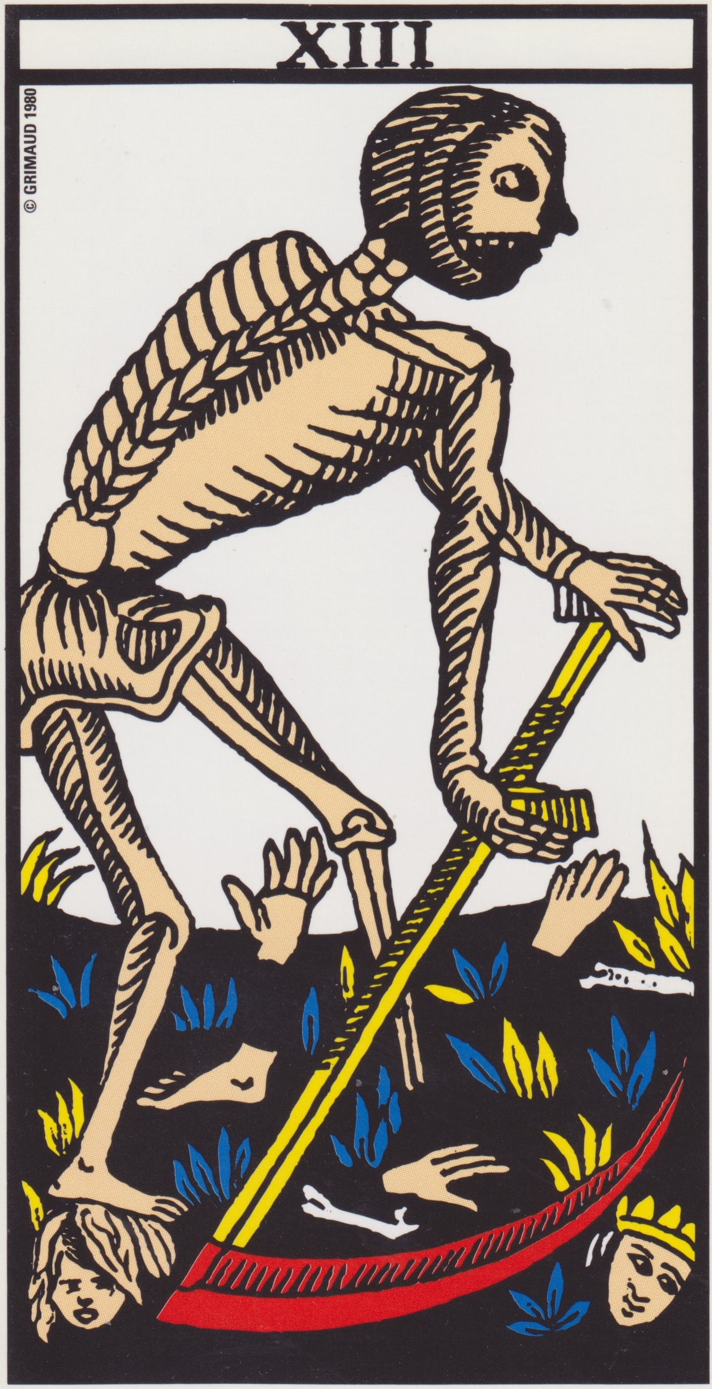 Death Card from the Marseille Tarot Deck. You can purchase this deck  HERE .