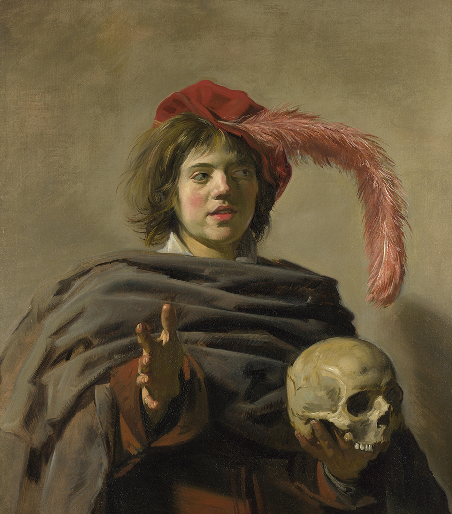 Young Man with a Skull, c.1626 by Frans Hals
