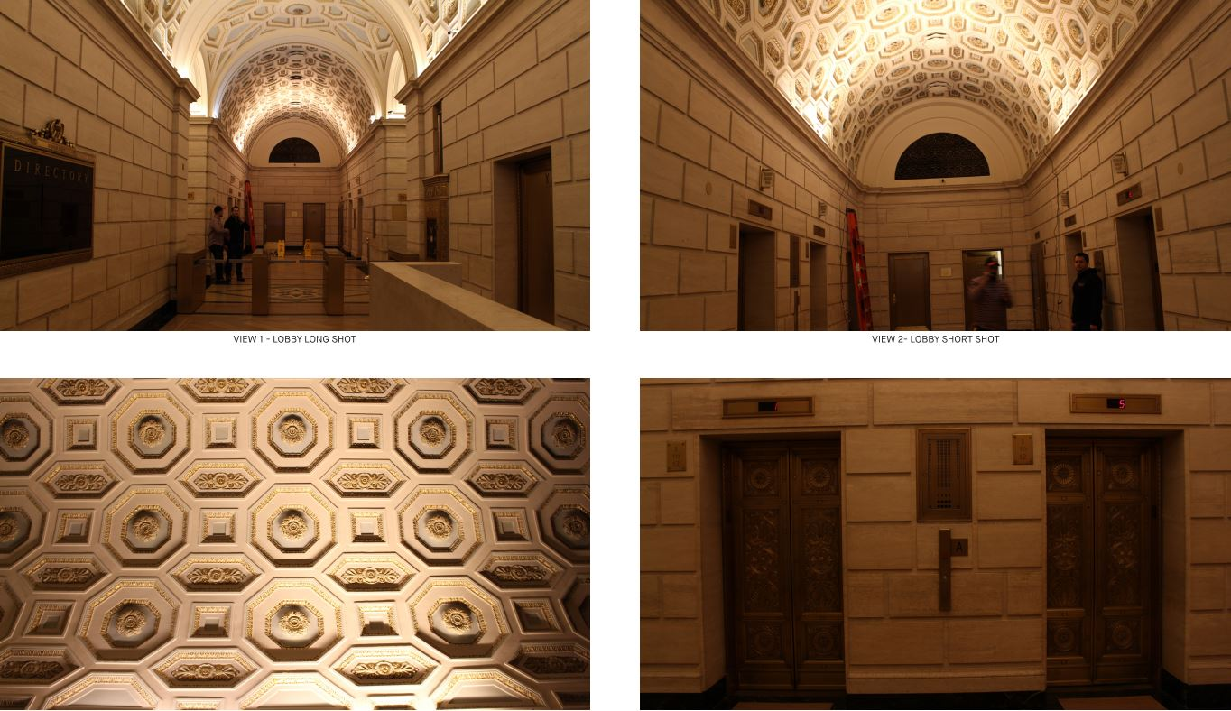 Considering the history and detail of the lobby, we conducted intricate mock-ups to explore the correct color temperature and color rendering needed to restore the lobby's essence.