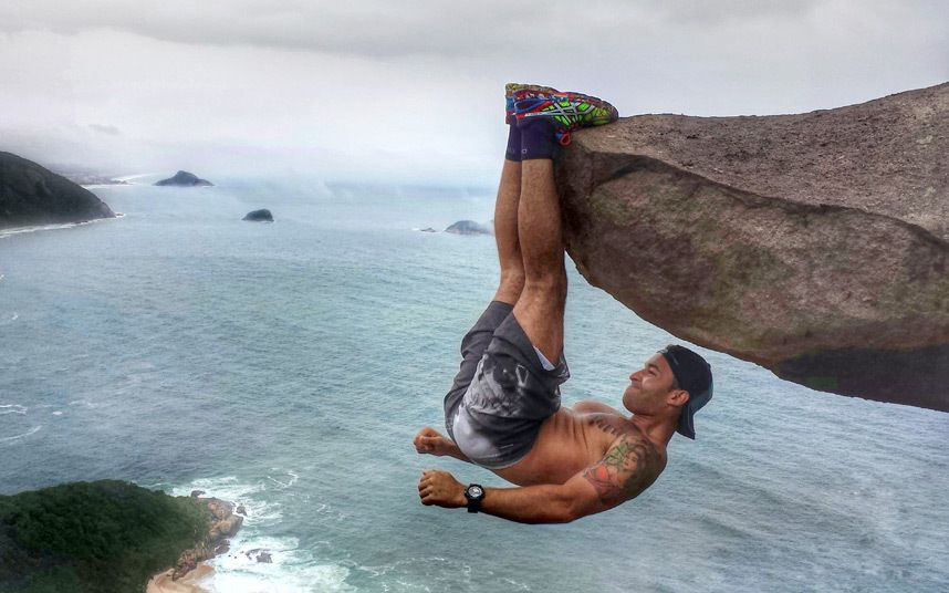 """Picture from """"the cliff"""" in Brazil."""