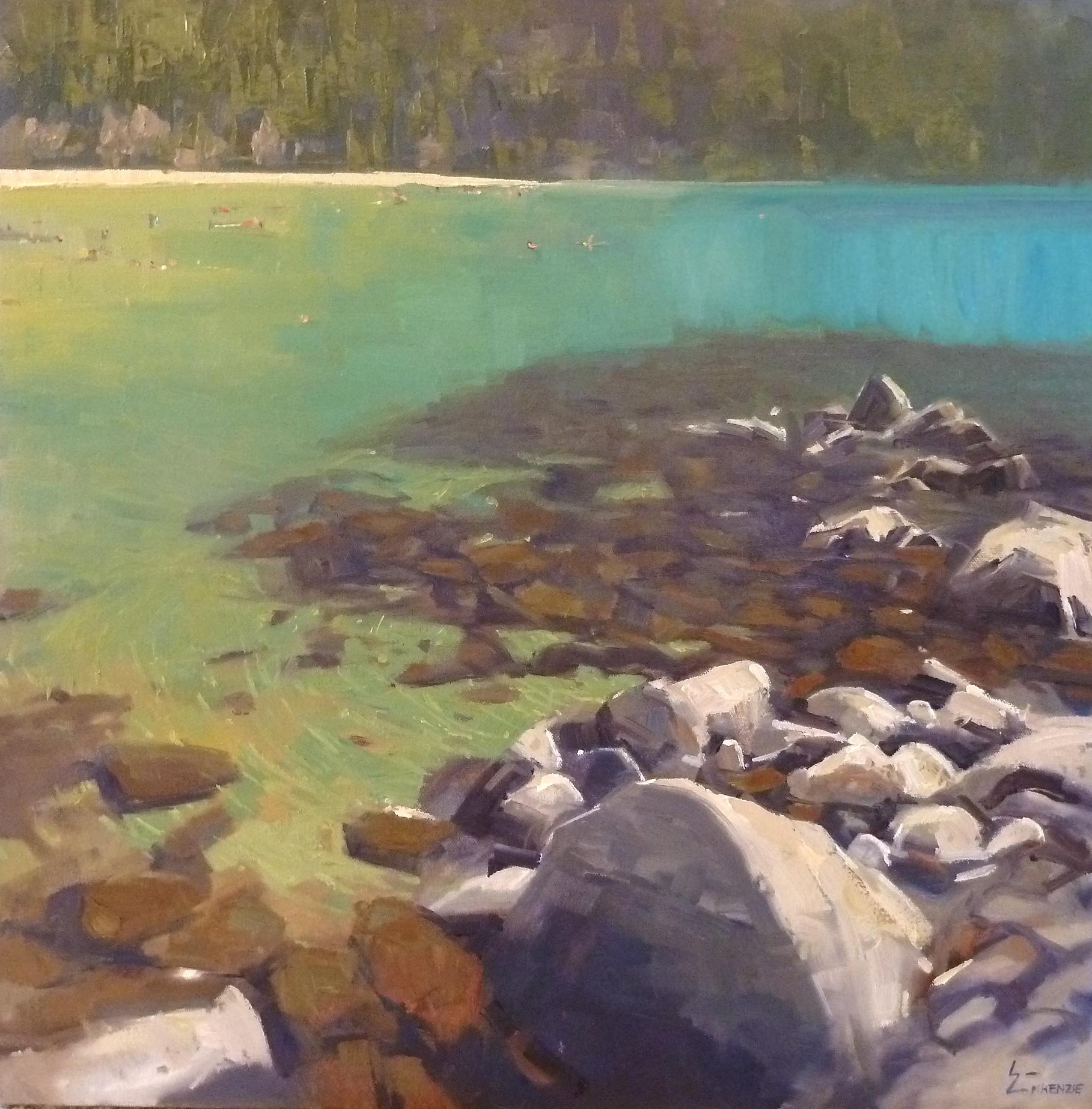"""""""Tahoe Turquoise"""" 24x24, $2500."""