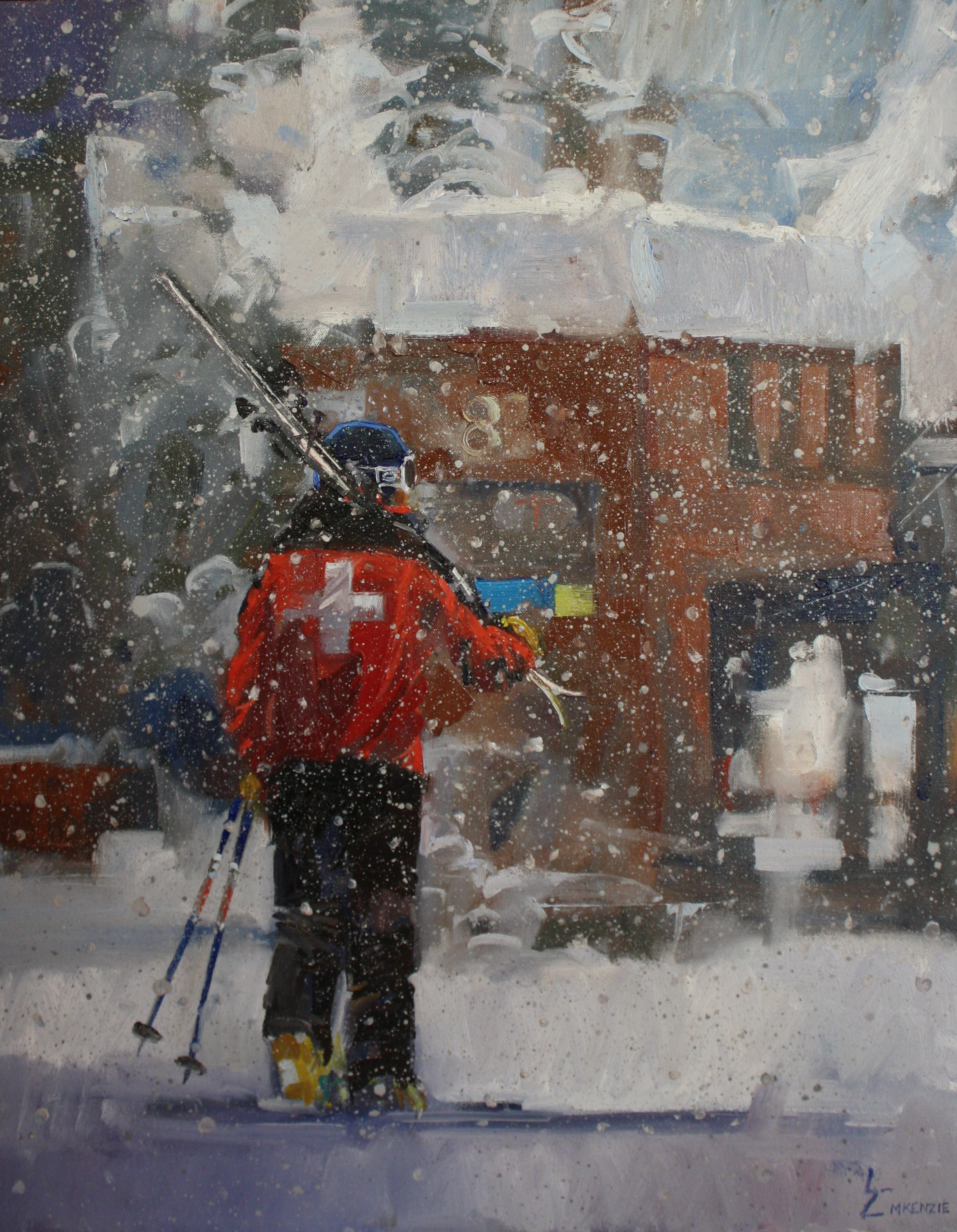 """Heavy Snow"" 16x20, $1800."