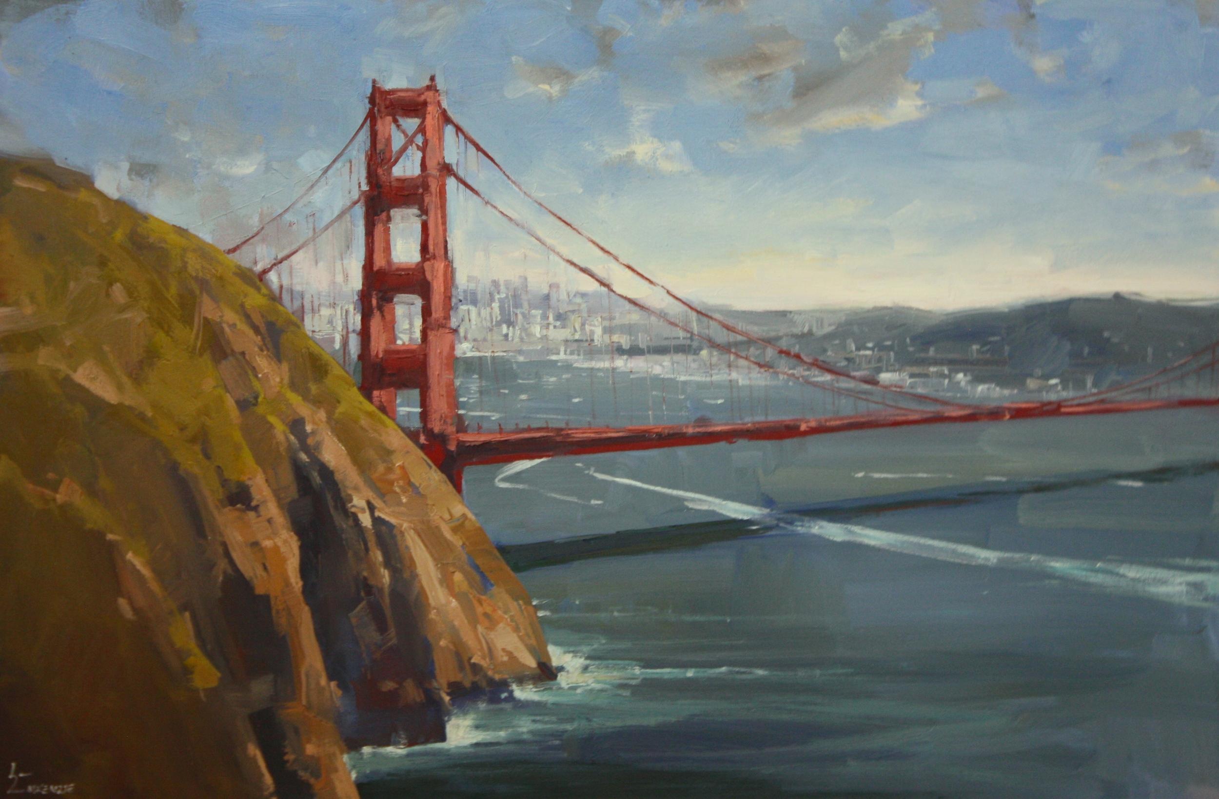 """""""Under the Golden Gate""""24x36, $3200."""