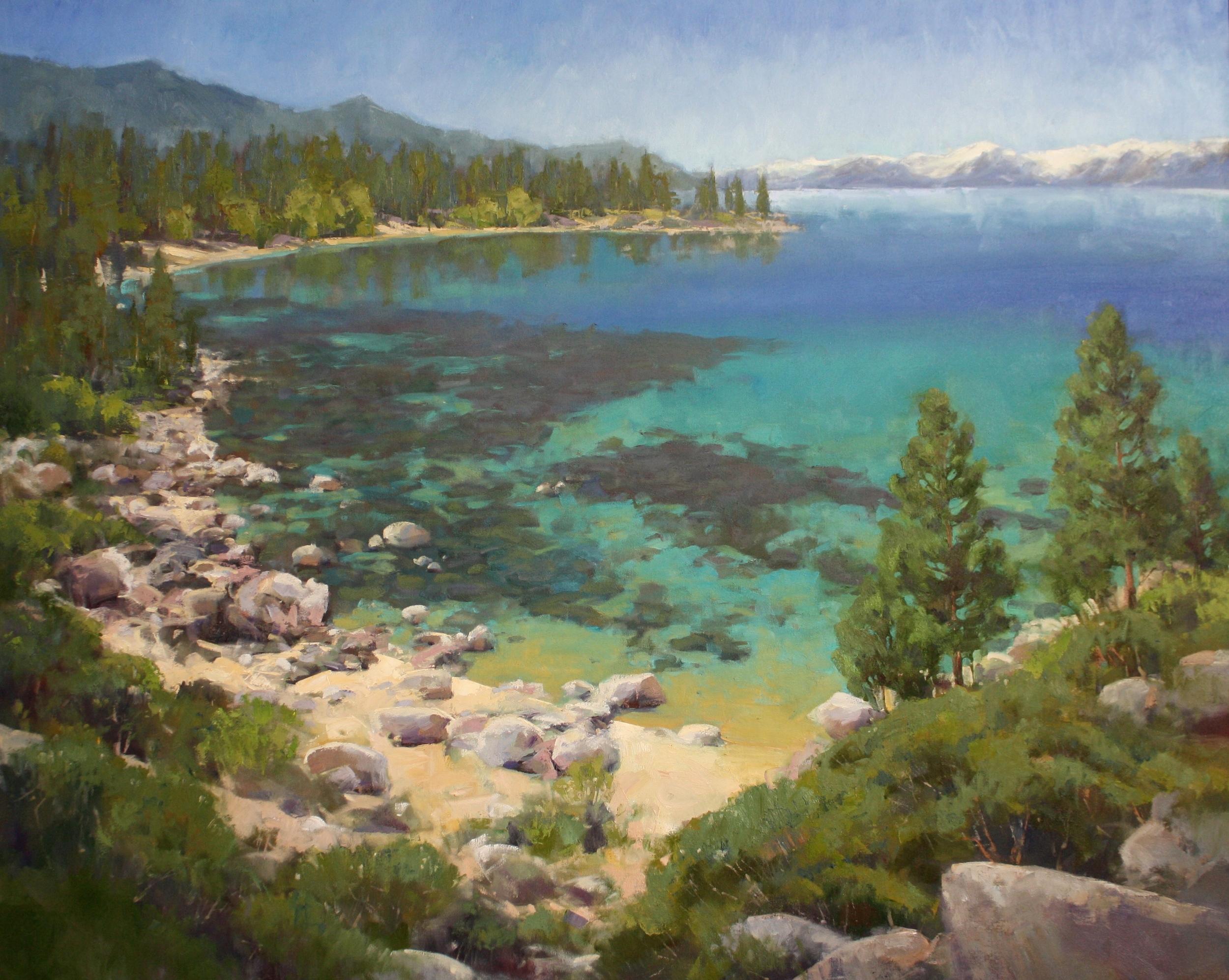"""""""Sand Harbor Bliss""""48x60, $9000."""