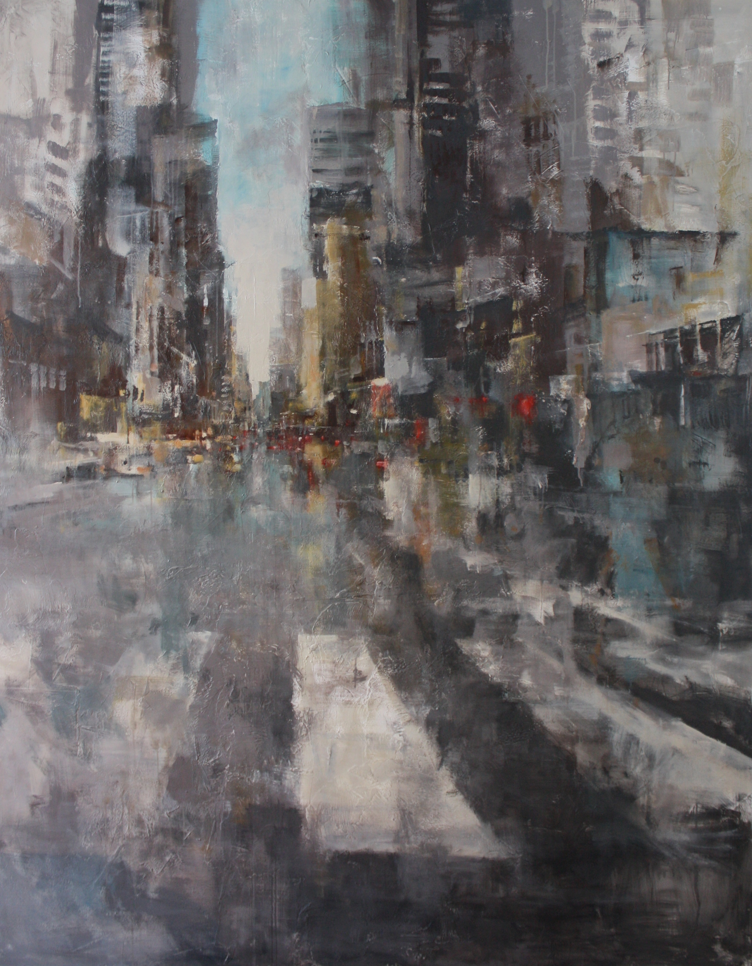 """""""Urban Grays"""" 9ftx6ft, Commission."""