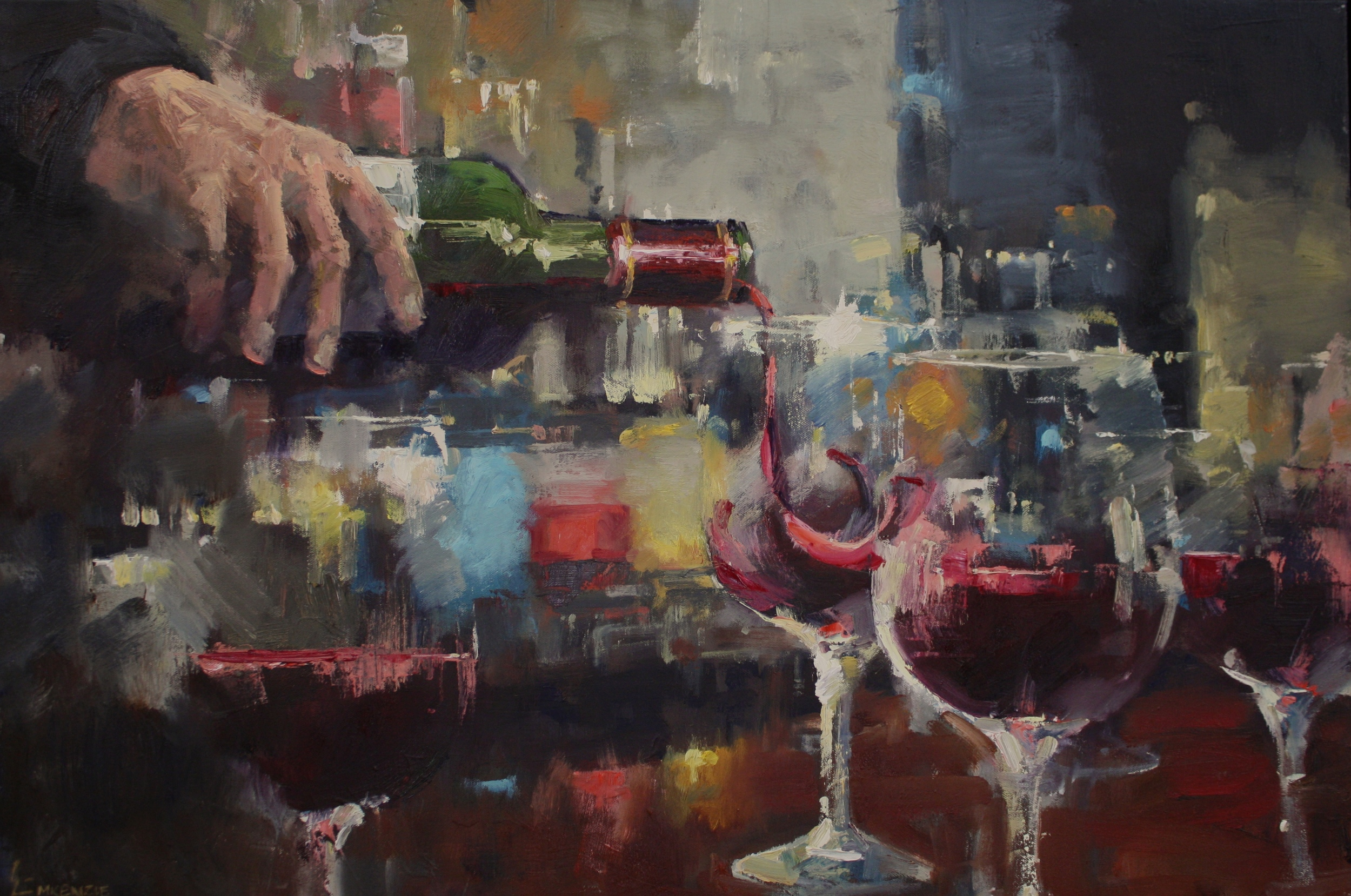 """""""Night Out"""" 24x36, $3500."""