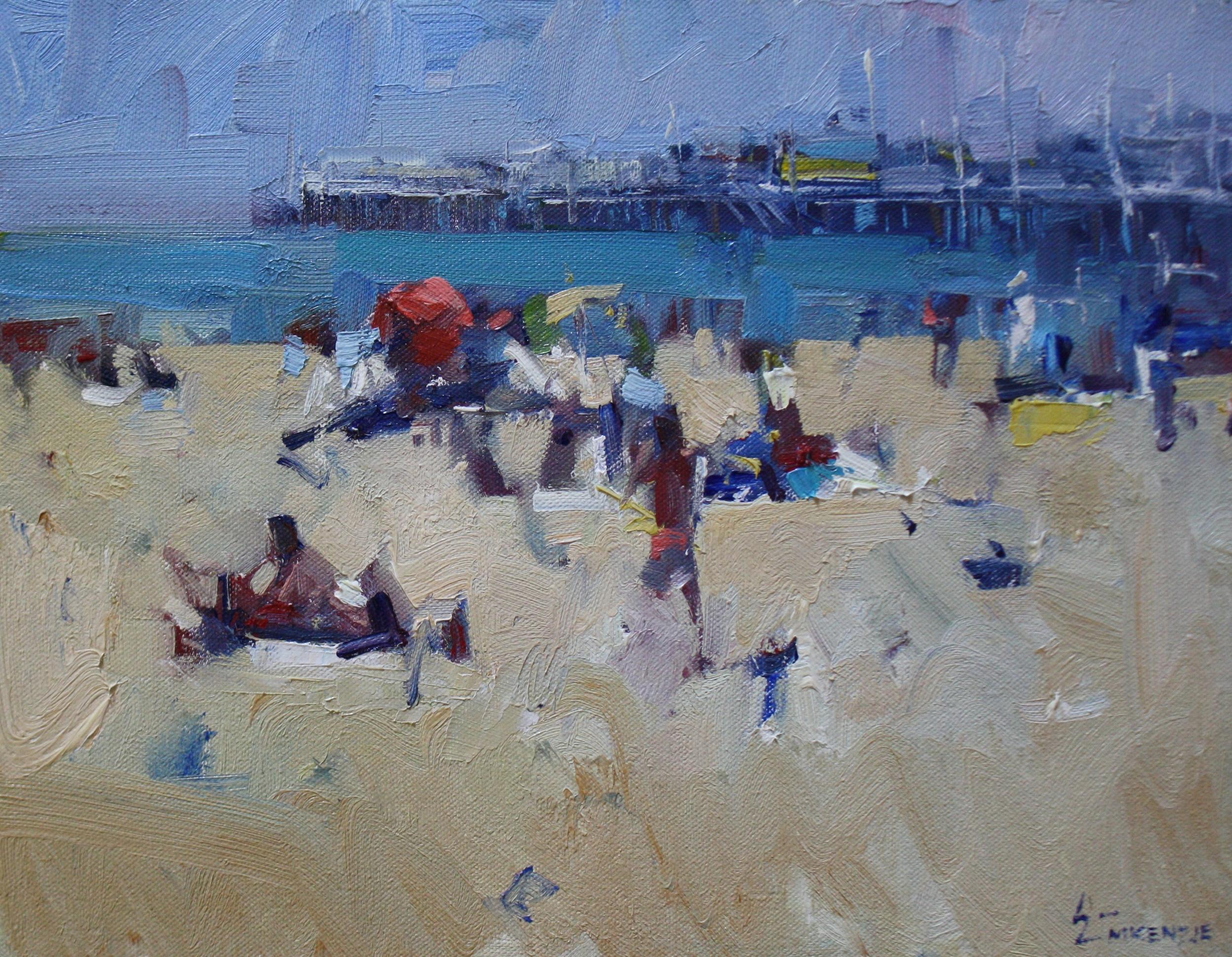 """Santa Cruz Beach Study"" 11x14, $1100."