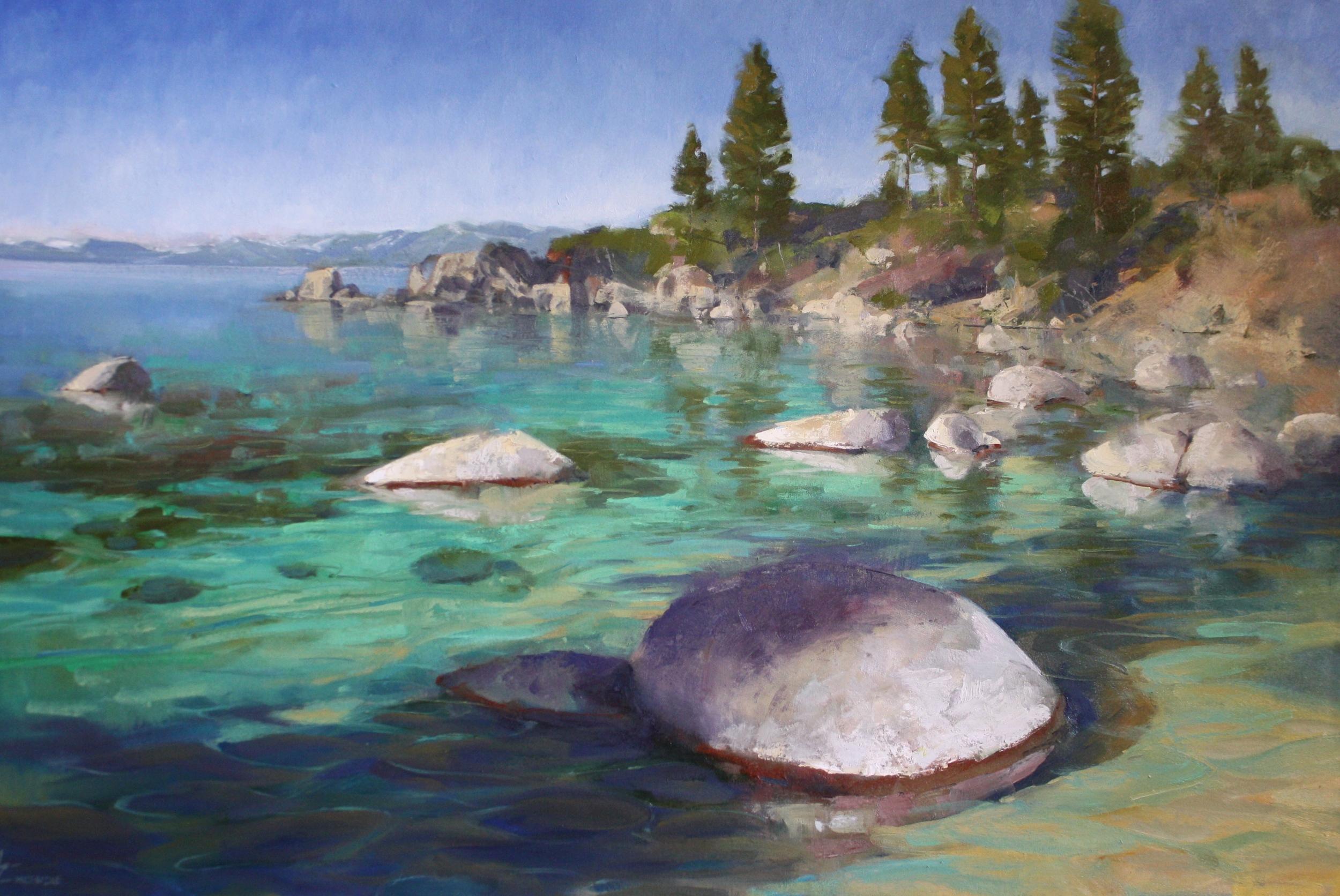 """""""Tahoe Shadows""""40x60, $8500."""