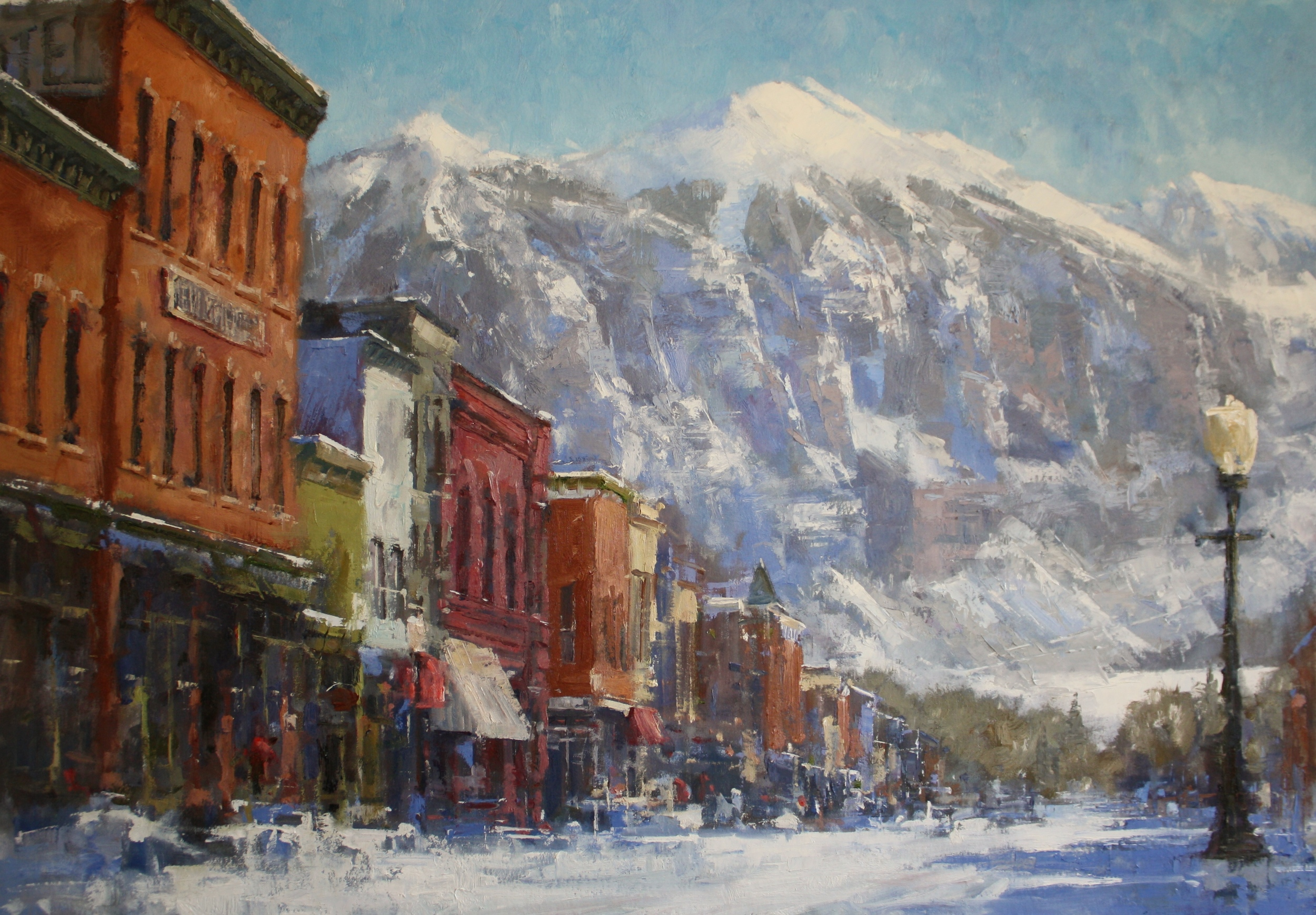 """Winters' Majesty"" 40x60, $8500."