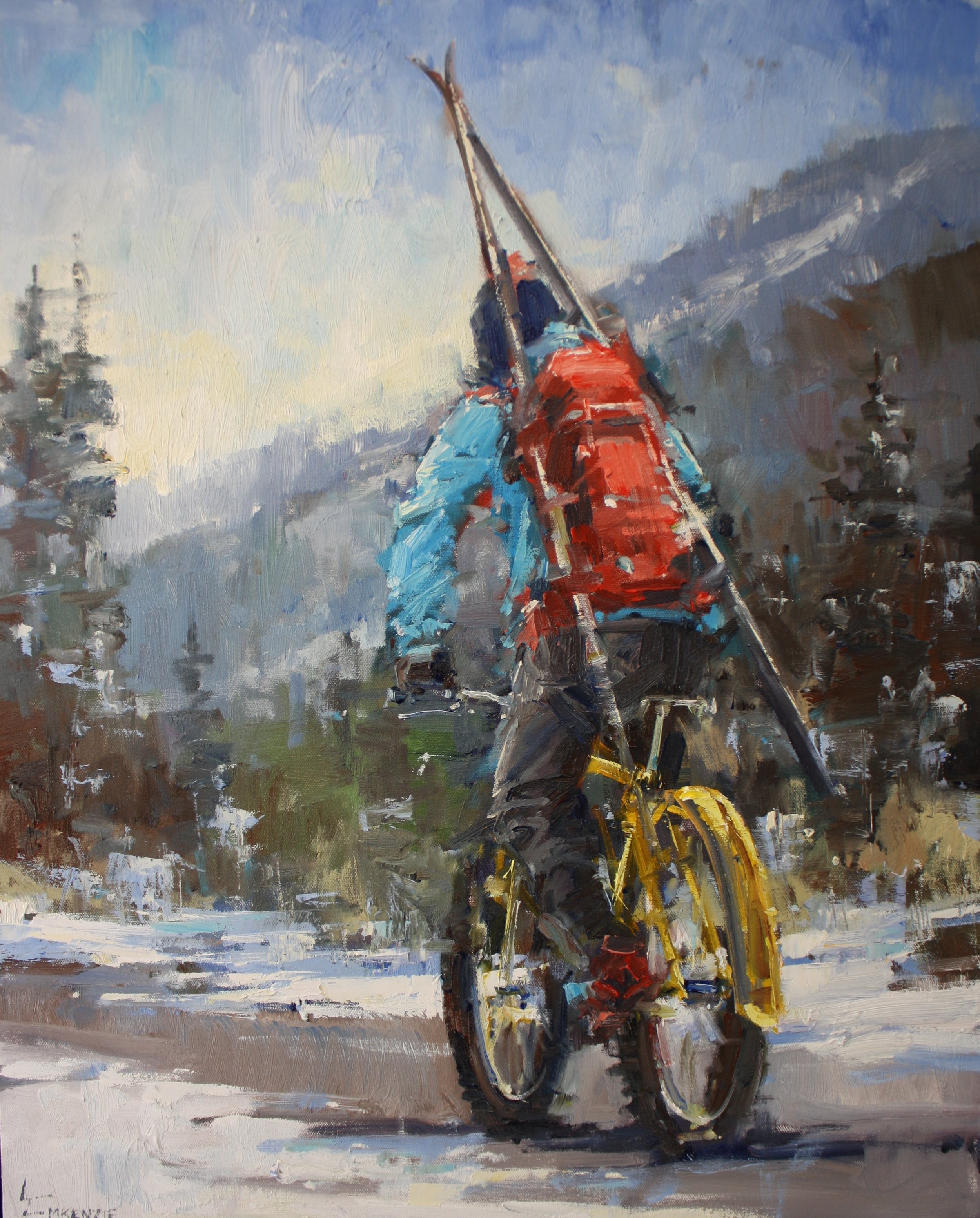 """Fat Tire II"" 22x28, SOLD."