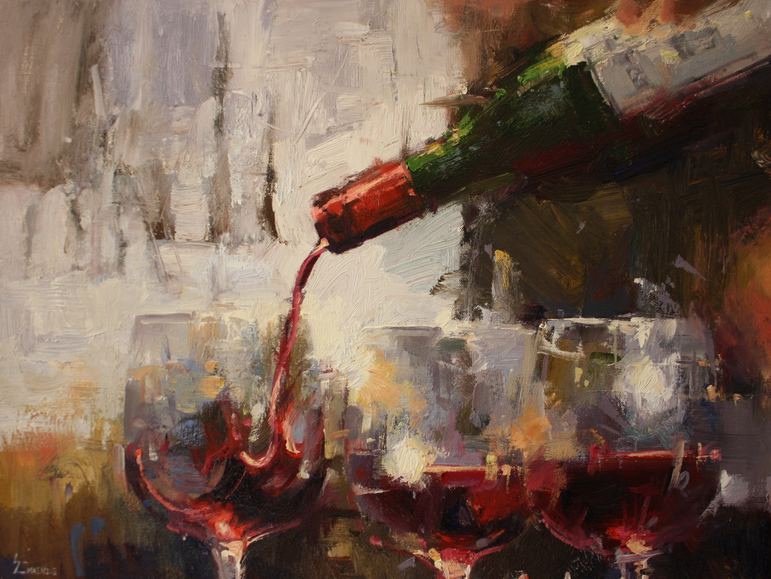 """Aspens and Wine"" 16x20, $1800.."