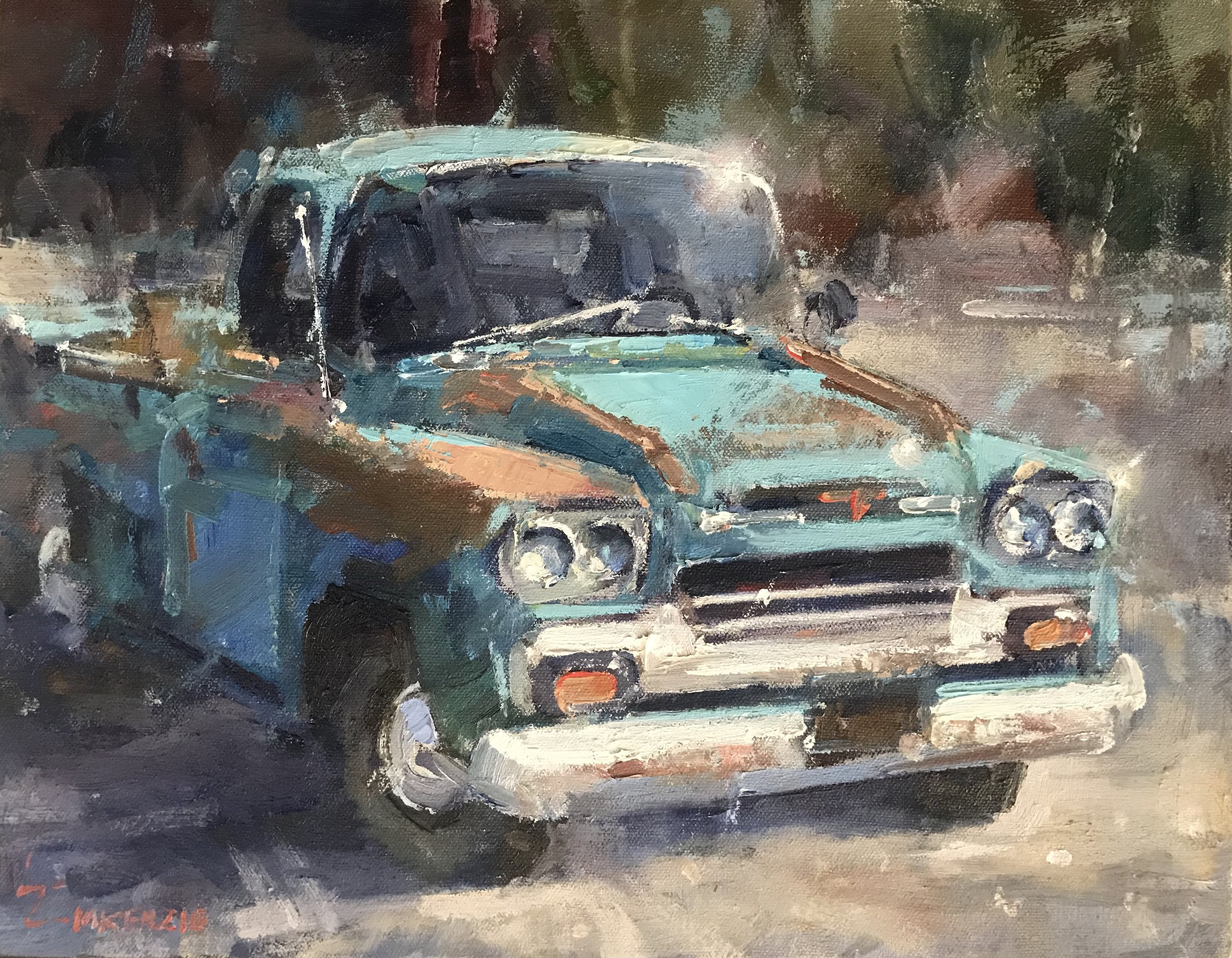 """Keiths Truck"" 11x14, Oil, $1200."