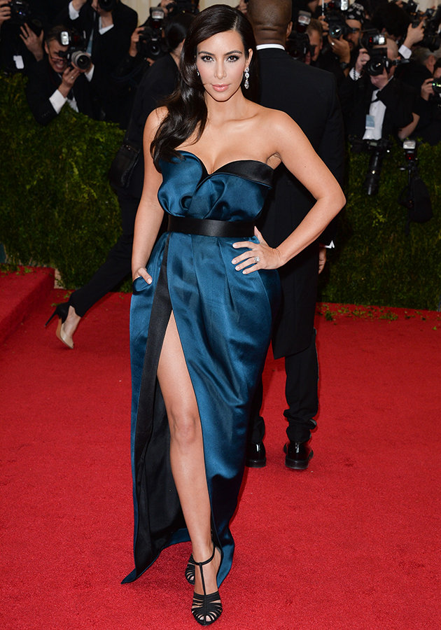 Kim Kardashian looked stunning in this unusual ensemble for her