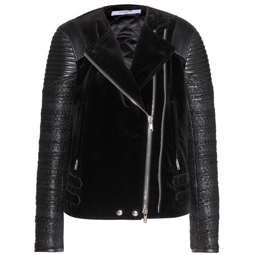 Givenchy Leather Velvet Jacket