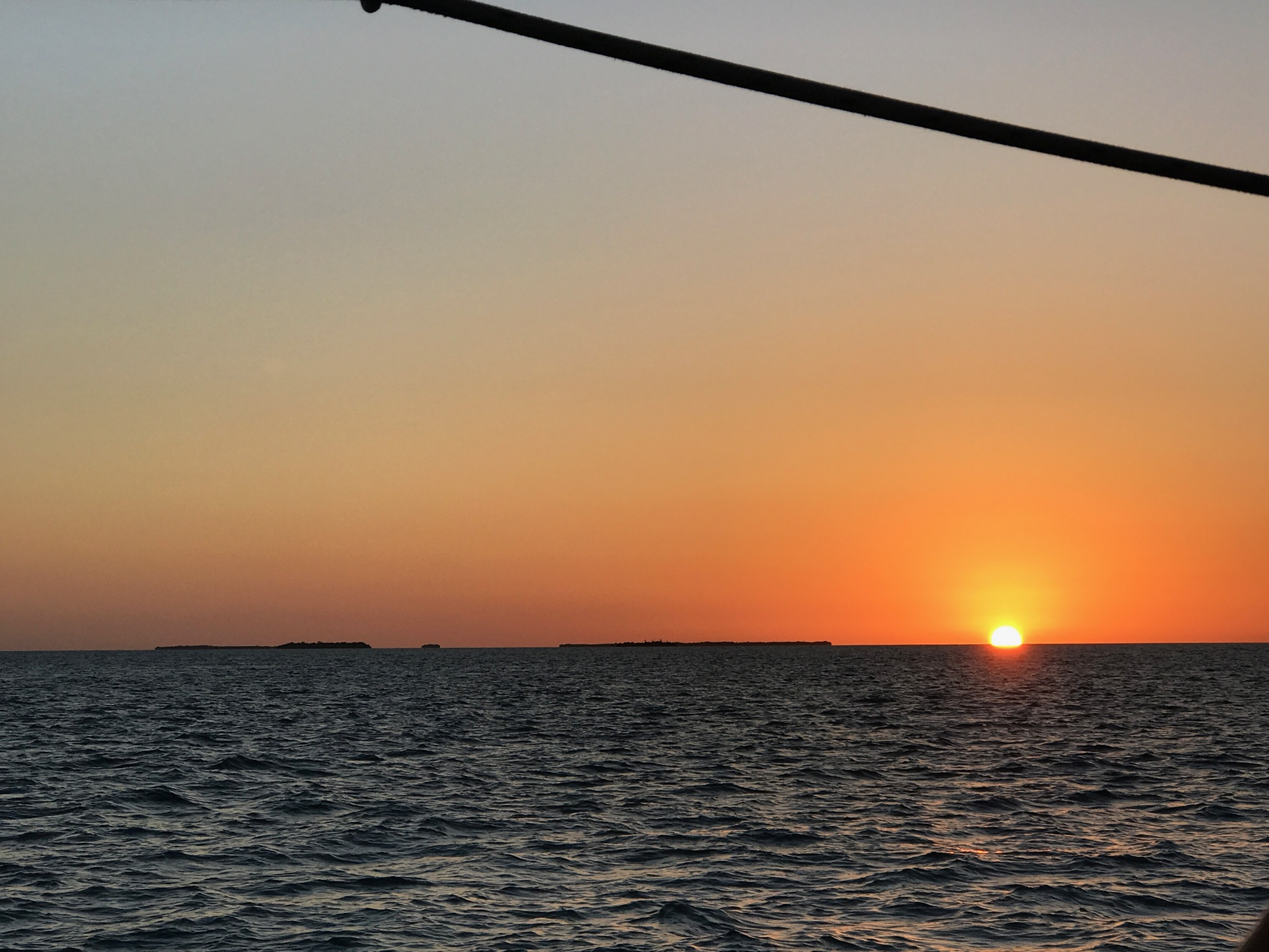 Taken while on a sunset sail on the America 2.